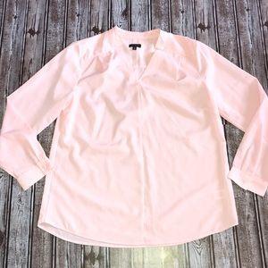 Talbots Tops - Talbots Blush Pink V Neck Blouse